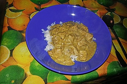 Indisches Chicken Korma 56
