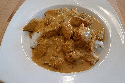 Indisches Chicken Korma 32