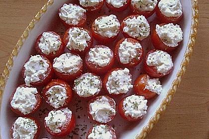 Gefüllte Tomaten mit Frischkäse 4