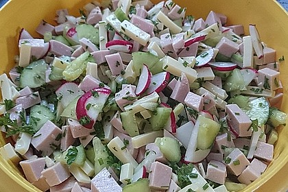 Wurstsalat mit Radieschen 4