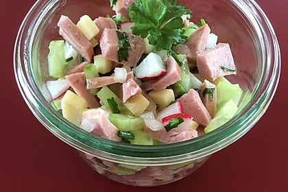 Wurstsalat mit Radieschen 5