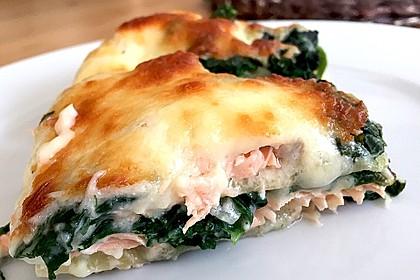 Spinat - Lachs - Lasagne (Bild)