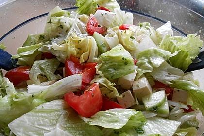 Griechischer Bauernsalat mit Feta 7
