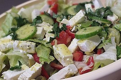 Griechischer Bauernsalat mit Feta 2