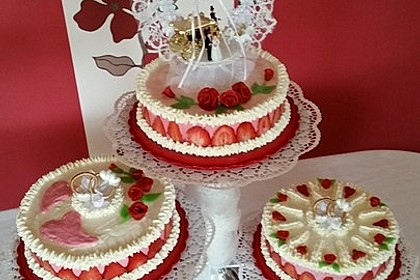 Erdbeer - Sekt - Torte