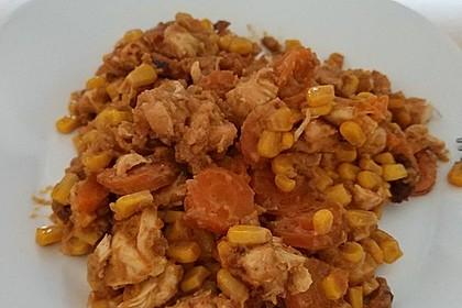 Hähnchenfilet in sämiger roter Thai-Currysauce aus dem SlowCooker