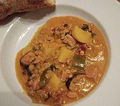 Rote Linsen-Curry mit Kokosmilch (Bild)