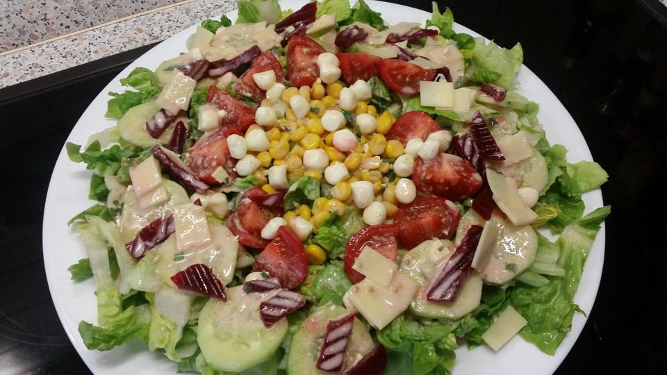 Kefir Dressing Mit Gemischtem Salat Von Slindi Chefkochde