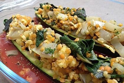 Zucchini mit Mangold-Couscous-Fülle 1