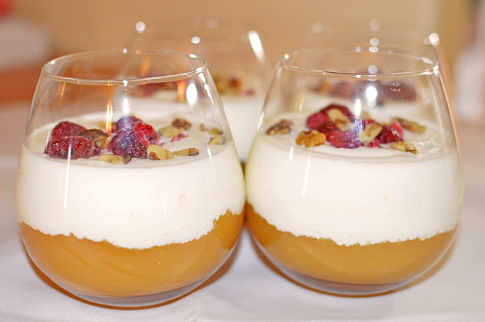 Leichtes Schichtdessert Mit Apfelmus Und Joghurt Von Laurapiet