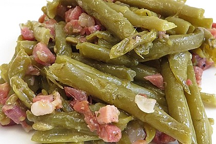 Grüne Bohnen mit Speck 3
