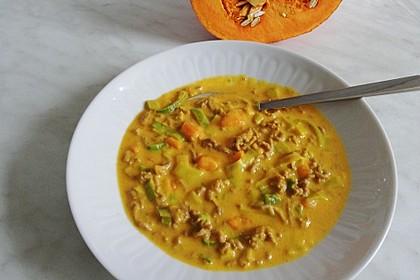 Kürbis-Lauch-Suppe (Bild)