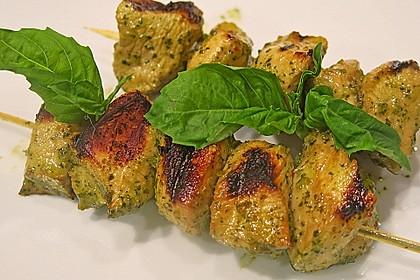 Koriander-Chili Hähnchenspieße vom Grill 1