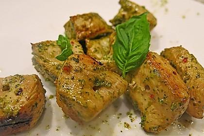 Koriander-Chili Hähnchenspieße vom Grill