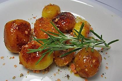 Braune oder karamellisierte Kartoffeln
