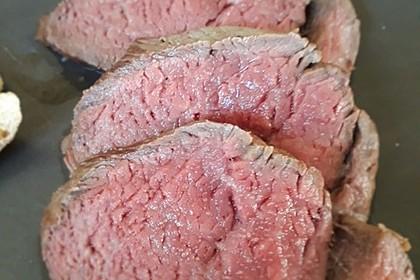 Rinderfilet im Ganzen nach Sous vide in der Cooking Chef 5