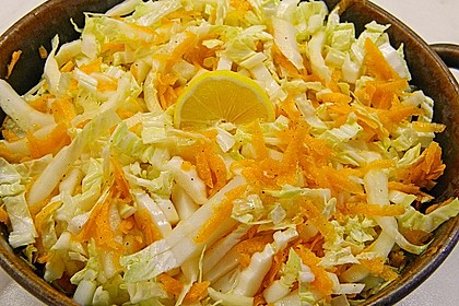 Chinakohl-Karotten Salat 7