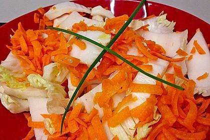 Chinakohl-Karotten Salat 11