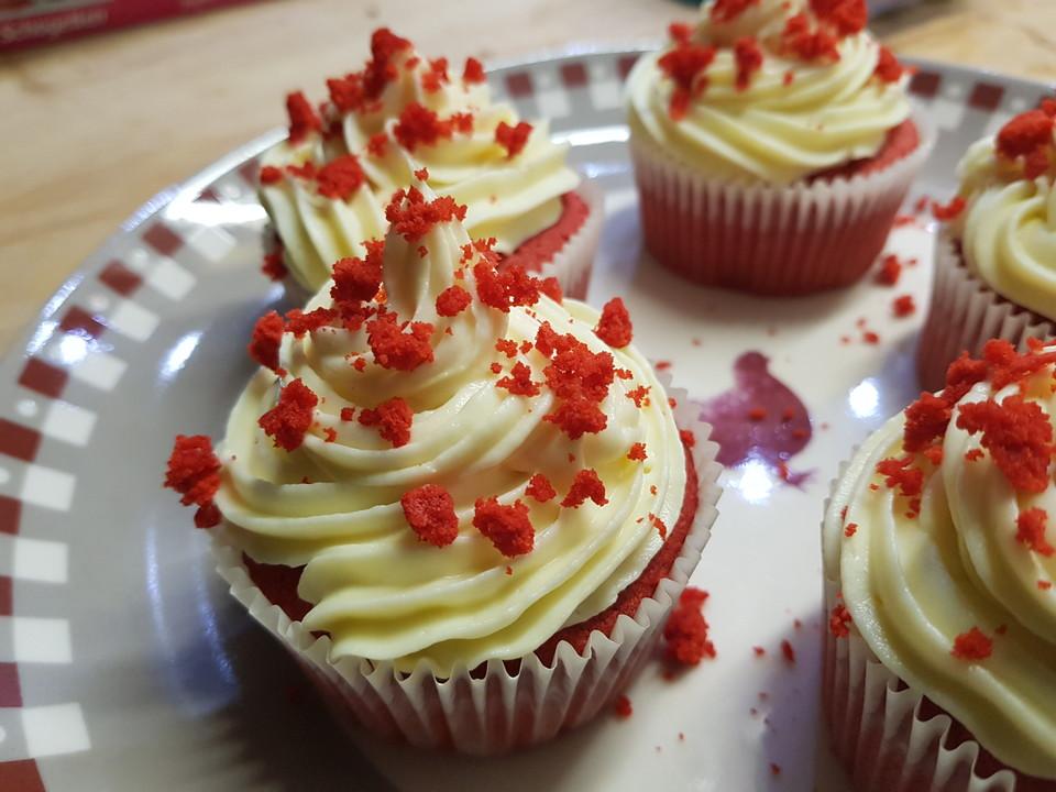 Red Velvet Cupcakes Von Bubbles75 Chefkoch De