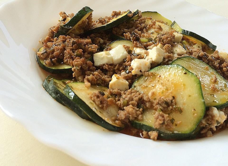 Griechischer Zucchini Auflauf Mit Feta Von Schleckigekatze Chefkoch