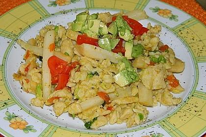 Avocado-Spätzle mit Schwarzwurzel 2