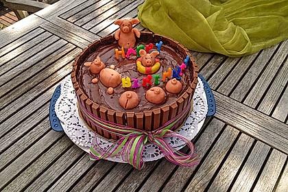 Schweinchen-Matsch Torte