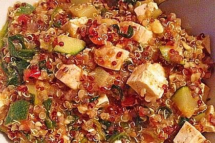Quinoapfanne mit Gemüse und Tofu 2