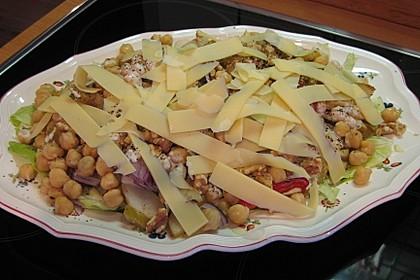 Kichererbsen-Salat mit Birne und Tahini-Dressing 2