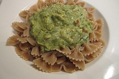 Pasta mit Shrimps und Grüner Soße