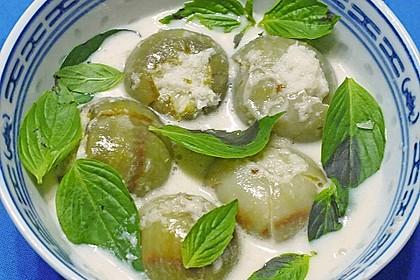 Weißes Thai-Auberginen-Curry