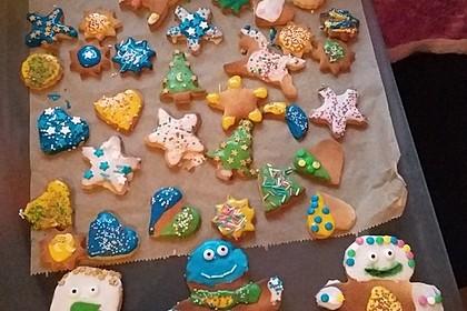 Weihnachtsplätzchen mit Zuckerguss 2