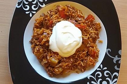 Reis-Hackfleisch-Pfanne mit Paprika 2