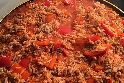 Reis-Hackfleisch-Pfanne mit Paprika 8