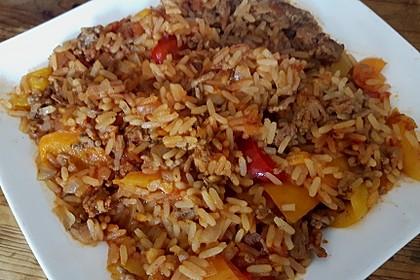 Reis-Hackfleisch-Pfanne mit Paprika 1