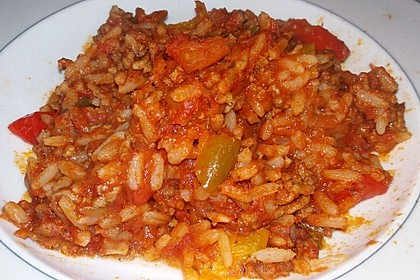 Reis-Hackfleisch-Pfanne mit Paprika 13