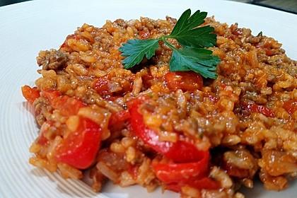 Reis-Hackfleisch-Pfanne mit Paprika 14
