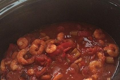 Amerikanisches Jambalaya mit Shrimps für den Slow Cooker - Nr. 1