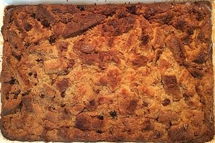 Amerikanischer Butterscotch Brotpudding