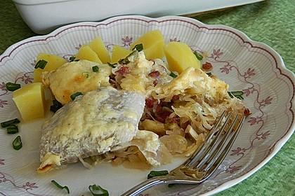 Sauerkraut-Seelachsfilet Auflauf 2