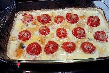 Kartoffel-Kürbis Auflauf mit Cherrytomaten (Bild)