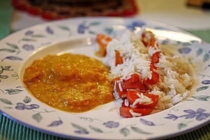 Möhren-Reis mit Möhren-Kokos-Sauce 1