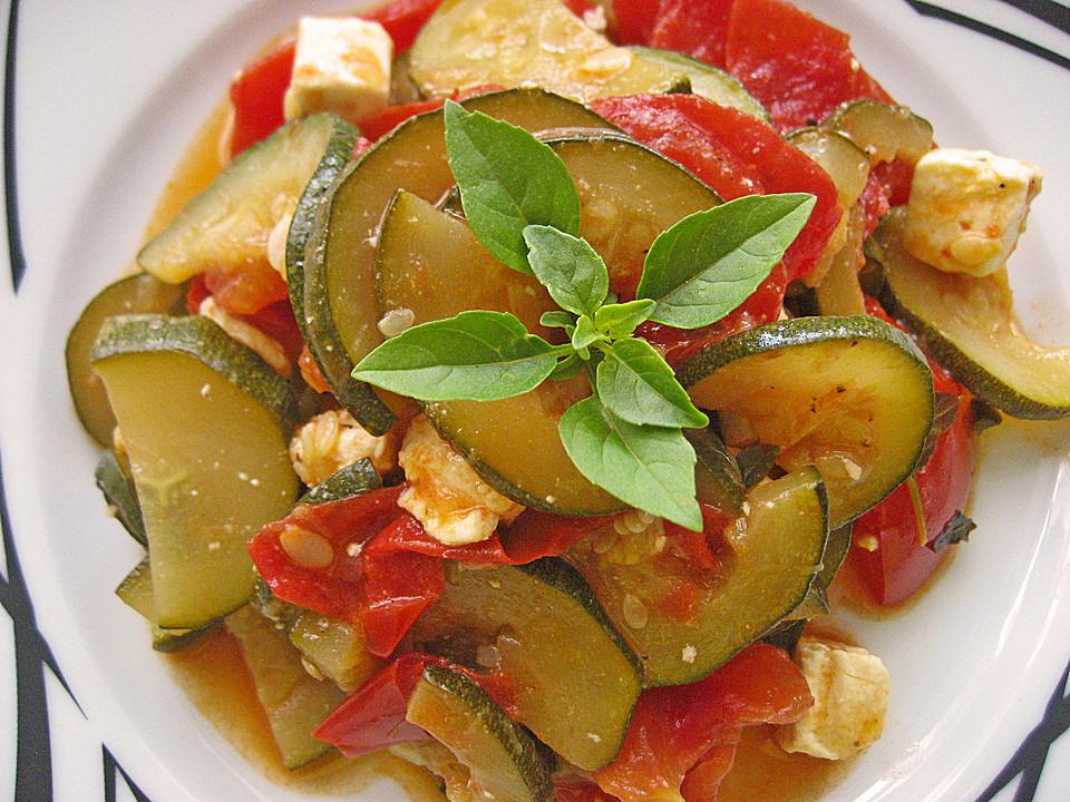 Rezept zucchini tomaten pfanne