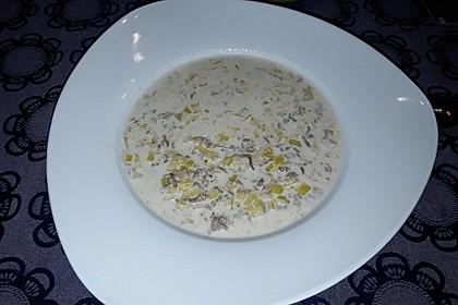 Käse-Lauch-Suppe mit (Soja-)Hack 1