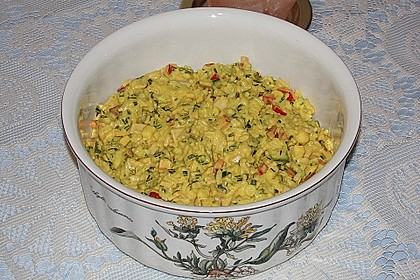 Bunter Curry-Reis-Salat 2