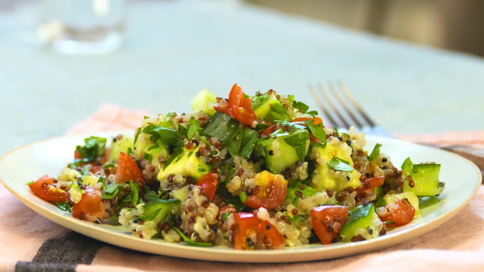 Quinoa Powersalat Mit Tomaten Und Avocado Von Kapelonia Chefkochde