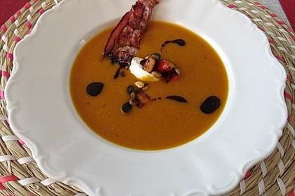 Karotten-Kürbissuppe