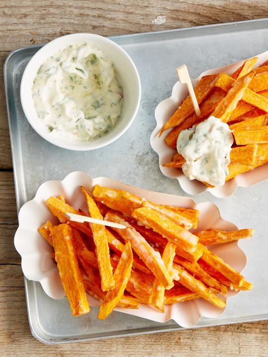 Knusprig Frittierte Süßkartoffel Pommes Von Gwc Chefkochde