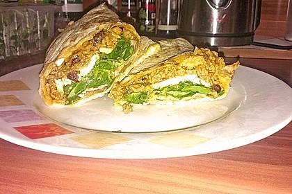 Burrito mit würziger Hack-Feta-Füllung 5