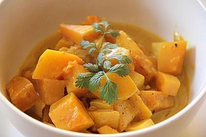 Kürbis-Tamarinden Curry