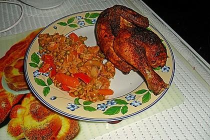 Gemüsereis mit gebratenem Hähnchen 2